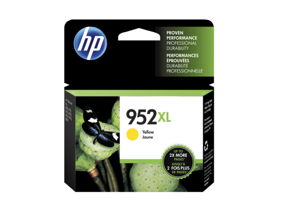 HP 952XL OEM High Yield Yellow Ink Cartridge (L0S67AN) - Precision Toner