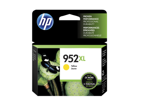 HP 952XL OEM High Yield Yellow Ink Cartridge (L0S67AN)