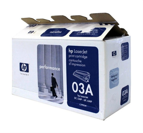 Open Box HP C3903A OEM Black Toner Cartridge (HP 03A) - Precision Toner