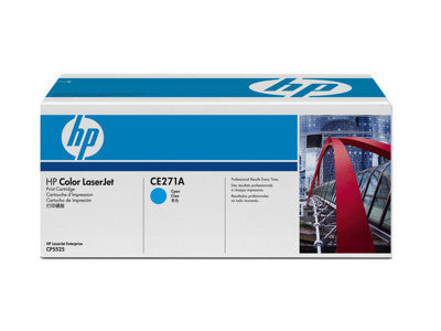 HP CE271A OEM Cyan Toner Cartridge (650A) - Precision Toner