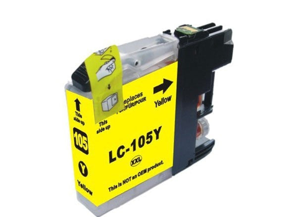 Brother LC105Y Compatible Extra High Yield Yellow Ink Cartridge (LC105) - Precision Toner