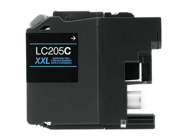 Brother LC205C XXL Compatible Extra High Yield Cyan Ink Cartridge - Precision Toner
