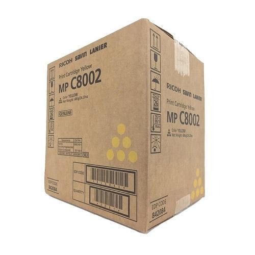 Genuine Ricoh 842084 Original Yellow Toner Cartridge (MP C8002 C6502)