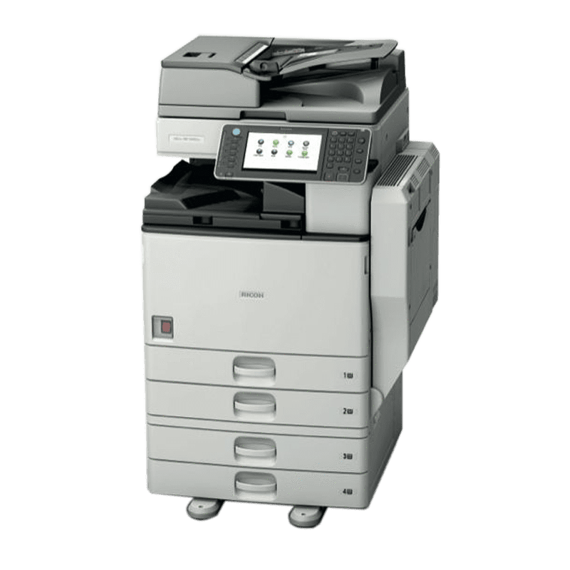 Only $59.75/month - Ricoh MP 2553 Monochrome Multifunction ALL INCLUSIVE Service Program Copier for low Volume printing - Precision Toner