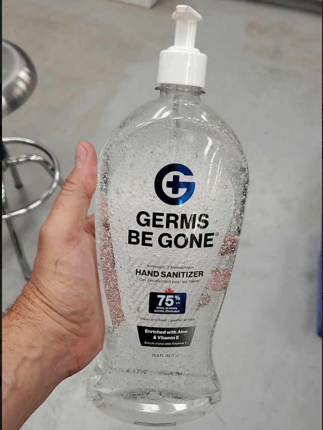 Absolute Toner From $14.99 LARGE (33.8 OZ) 1 Liter Germs Be Gone® 75% Alcohol, Aloe and Vitamin E Health CANADA Approved - GEL Hands Sanitizer Sanitizer
