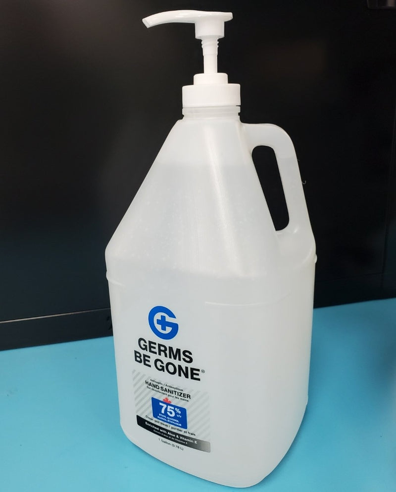 Absolute Toner From $44.95 Germs Be Gone® (1 Gallon) 3.78 Liter- 75% Alcohol, Aloe and Vitamin E Health CANADA Approved - GEL Hands Sanitizer Sanitizer
