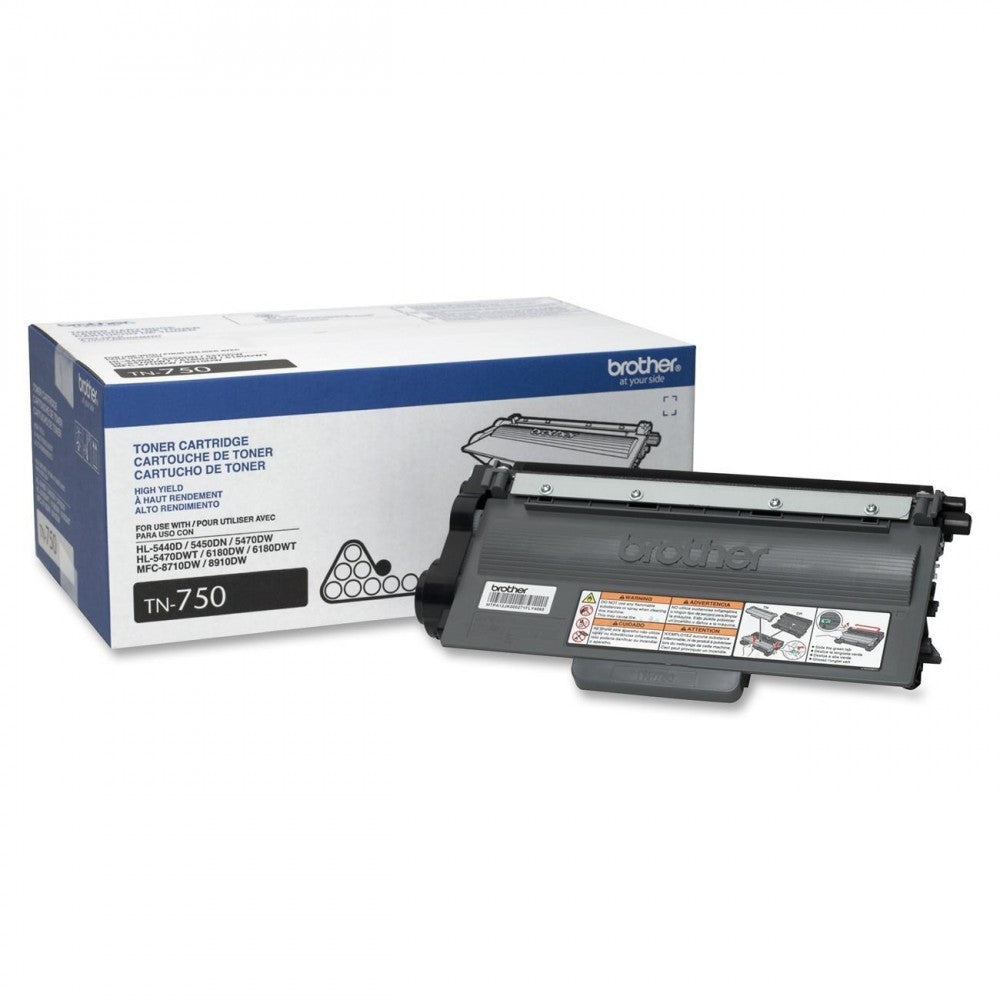 Brother TN-750 OEM High Yield Black Toner Cartridge (High Yield Of TN-720)
