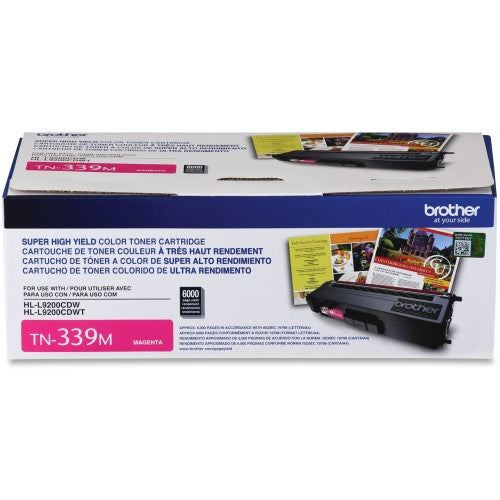Brother TN-339 OEM High Yield Magenta Toner Cartridge