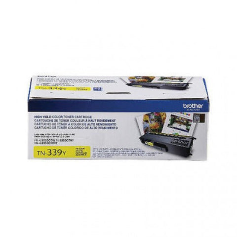 Brother TN-339 OEM High Yield Yellow Toner Cartridge