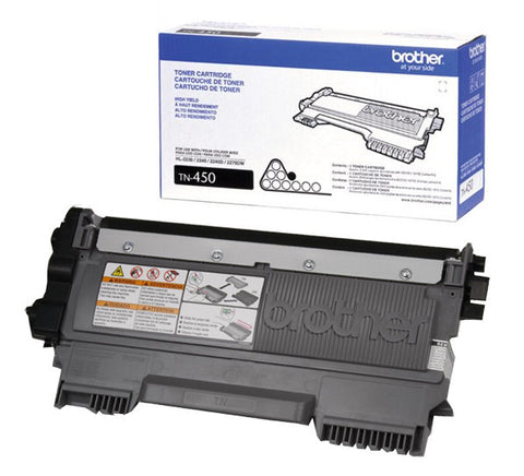 Brother TN-450 OEM High Yield Black Toner Cartridge (High Yield of TN-420)