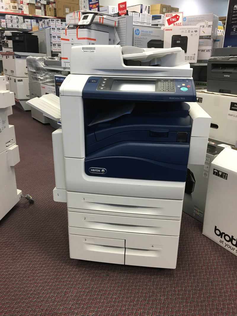 REPOSSESSED Xerox WC7855 WC 7855i Color Laser Multifunction Printer Demo Unit Only 62 Pages Printed - Precision Toner