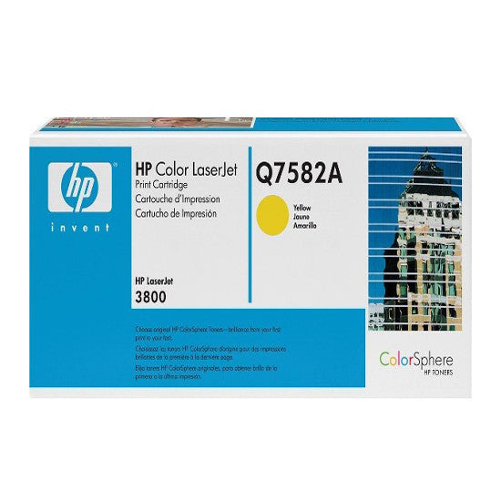 HP Q7582A OEM Yellow Toner Cartridge (HP 503A 3800) - Precision Toner