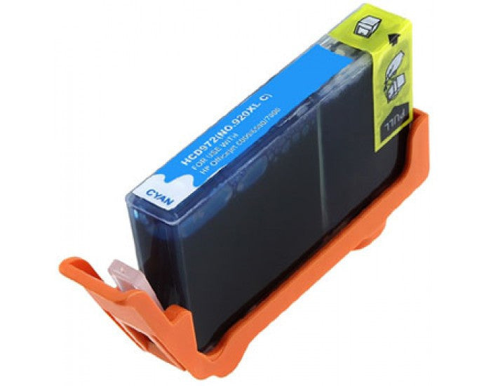 Ink Cartridge Compatible with HP 920XL High Yield Cyan (CD972AN) - Precision Toner