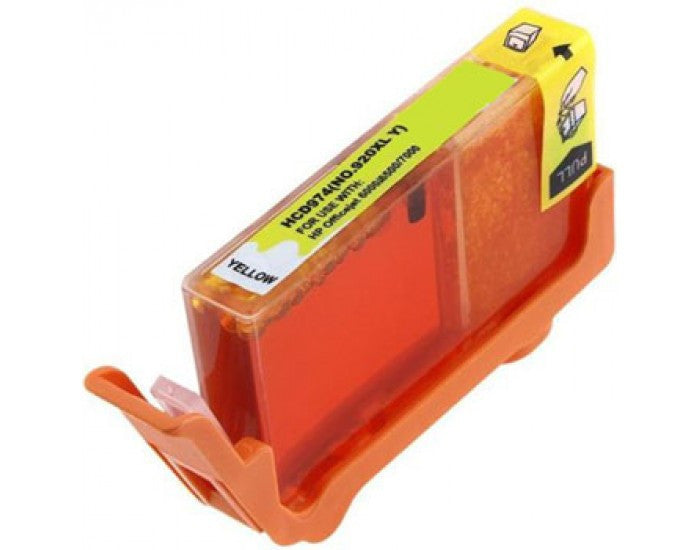 Ink Cartridge Compatible with HP 920XL High Yield Yellow (CD974AN) - Precision Toner