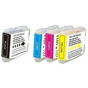 4 Brother LC-51 Compatible Ink Cartridge Combo (Black, Cyan, Magenta, Yellow) - Precision Toner