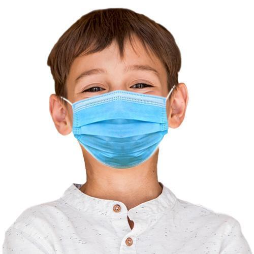 Absolute Toner KIDS MASKS BLUE- Disposable 3 Ply Filter Safety Face Mask for your children Face Mask