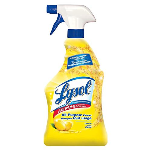 Absolute Toner Lysol 600mL Lemon Disinfectant All Purpose Cleaner Spray Sanitizer