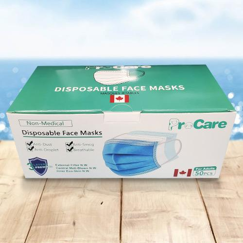 Absolute Toner From $14.95/BOX #1 Brand High Filtration ProCare TM® Medical Device Licence 12545/FDA Approved Disposable 3 Ply Safety Face Mask - Custom Made for the Canadian Market Face Mask