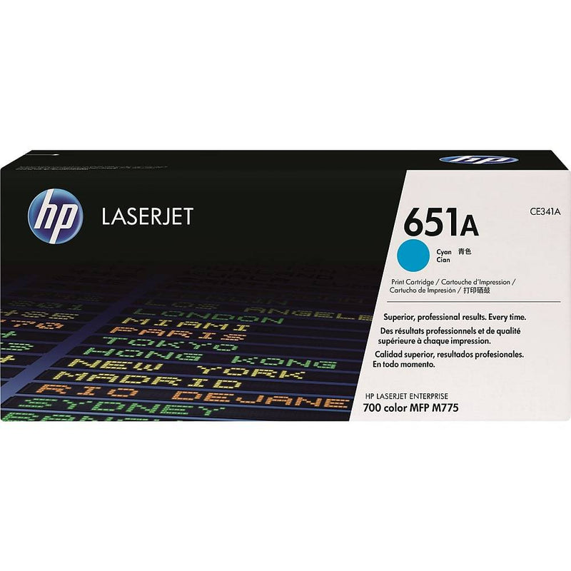 HP 651A (CE341A) Cyan Original LaserJet Toner Cartridge - Precision Toner