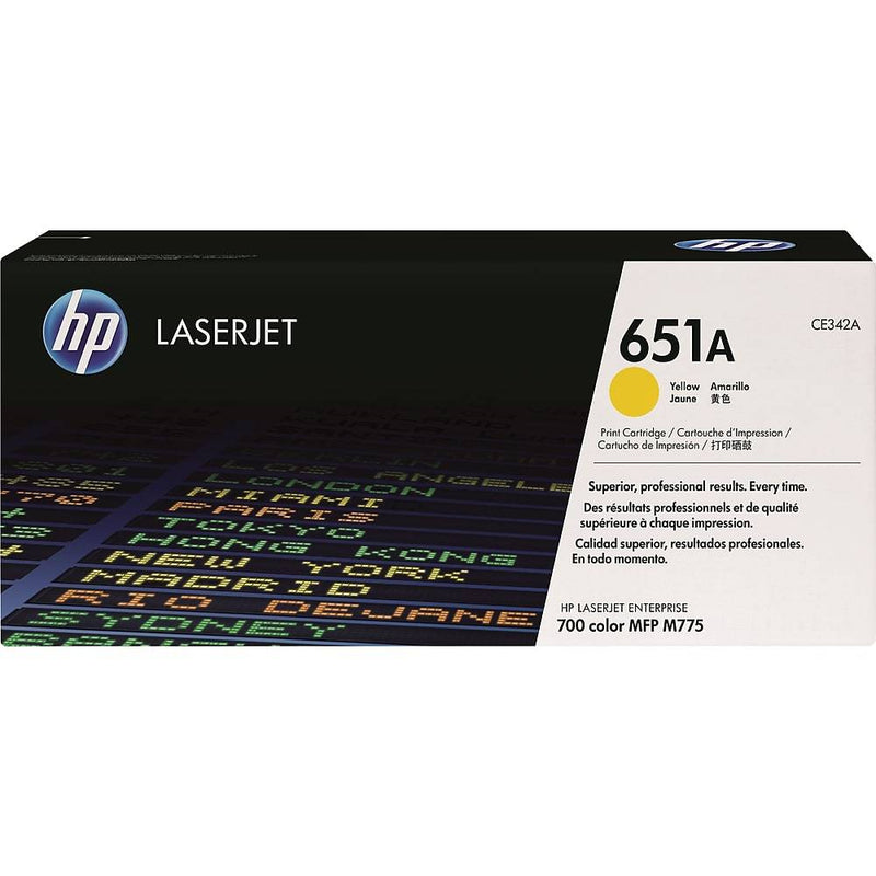 HP 651A (CE342A) Yellow Original LaserJet Toner Cartridge - Precision Toner