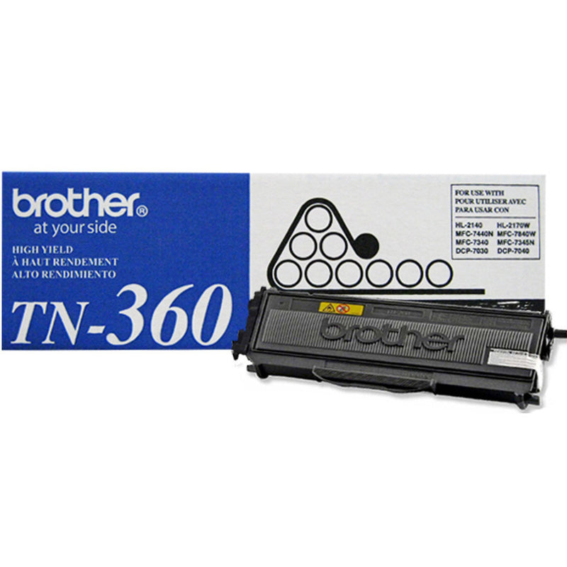 Brother TN-360 OEM Black Toner Cartridge (High Yield Of TN-330)