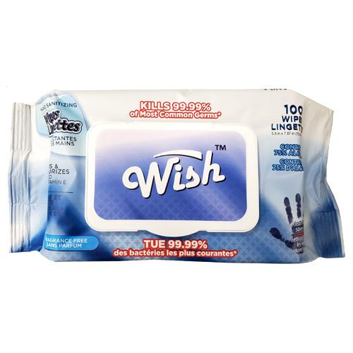 "Absolute Toner WISH™️ 100 - 75% Alcohol ""TOP BRAND WISH™️"" - From $7.99 Ea. pk/100 - KILLS 99.99% LONG WIPES 5.9""x7.87"" with Vitamin E & Fragrance Free Disinfectant & Sanitizes Wipes"