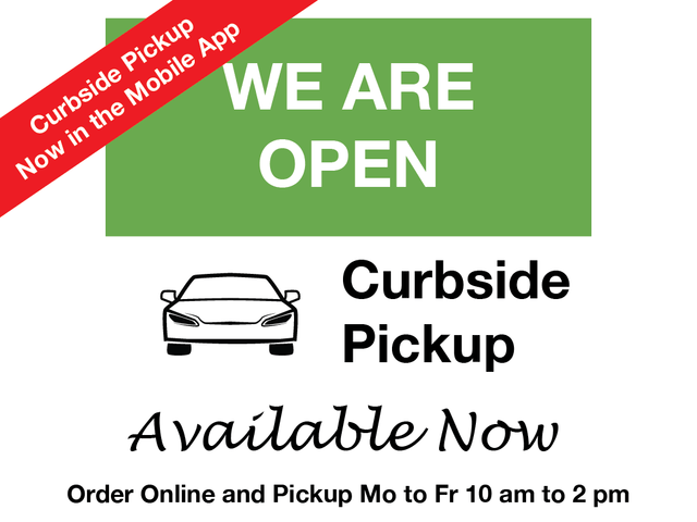 Curbside Pickup Orders now available in the mobile app