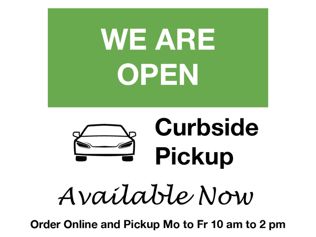 Local curbside pickup now available for online orders