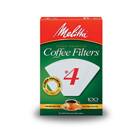 Melitta #4 Cone Filter Paper White 100-Count - Tico Coffee Roasters