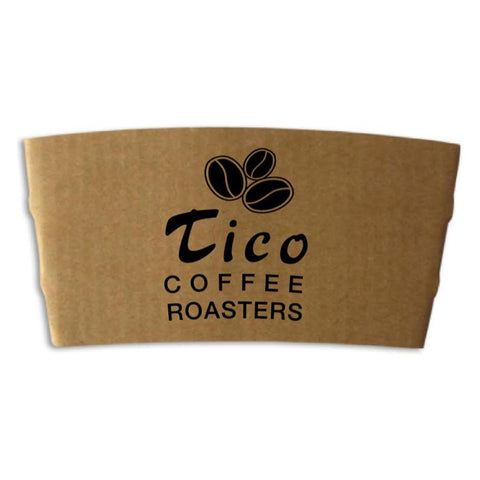 Natural Kraft Coffee Cup Sleeve with Tico Coffee Roasters Logo - Tico Coffee Roasters