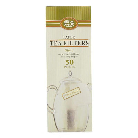 Paper Tea Filter Size L (50 units) - Tico Coffee Roasters