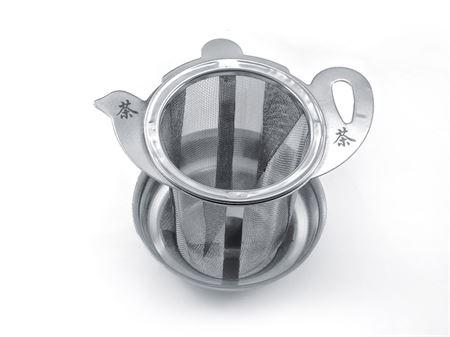 Stainless steel strainer, with lid, drip bowl - Tico Coffee Roasters