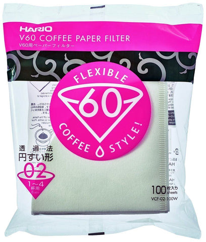 Hario Paper Filter for V60 02 Dripper 100 sheets - Tico Coffee Roasters