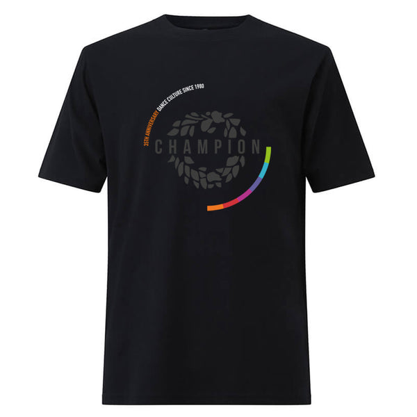 35th Anniversary large logo tee - Black