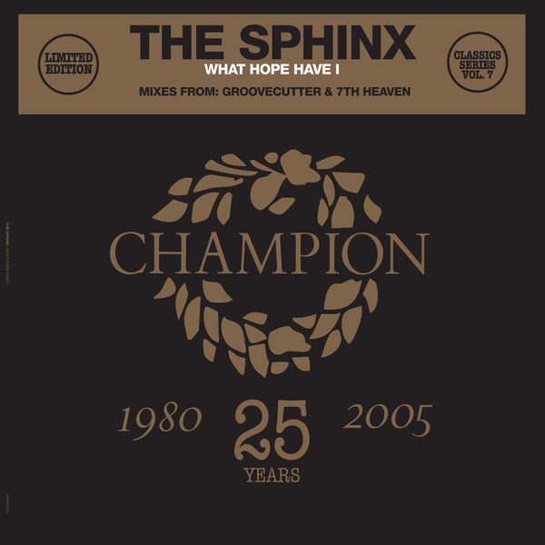 "The Sphinx - What Hope Have I - Classics Series (12"" Vinyl +CD)"