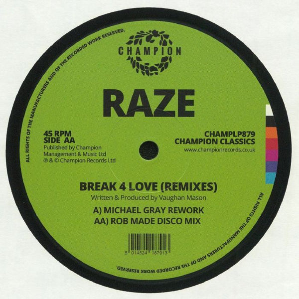 Raze - Break 4 Love (2020 Remixes)