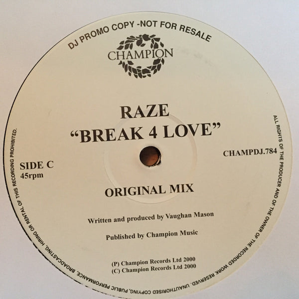 "Raze - Break 4 Love - DJ Promo (12"" Vinyl)"