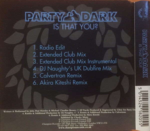 Party Dark - Is That You (CD Single)