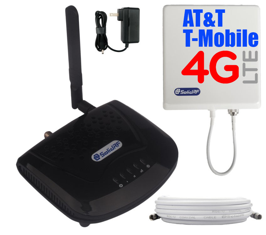 SolidRF SOHO Tri-Band Cell Phone Signal Booster AT&T T-Mobile for Home and Office