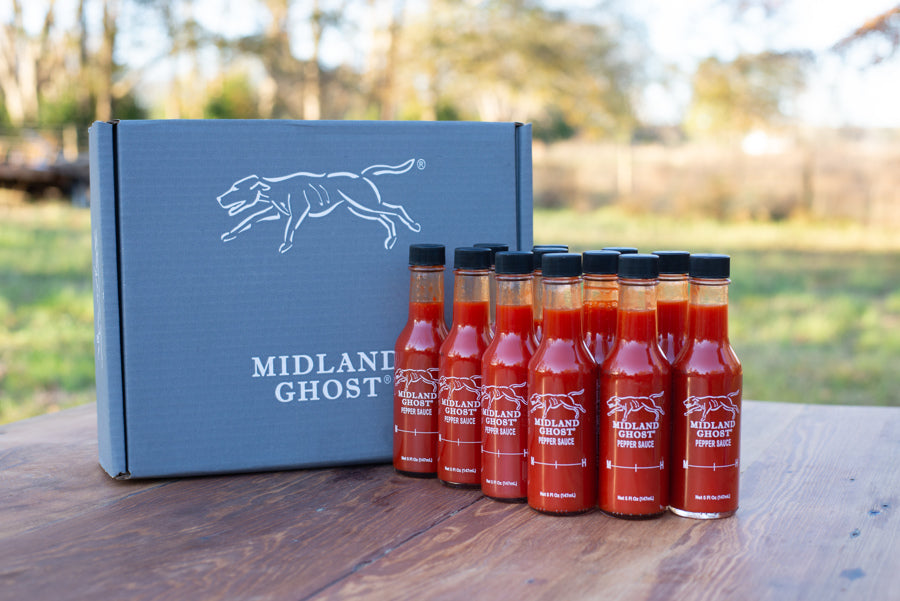 12 Bottles - Midland Ghost Red Pepper Sauce (1 case)