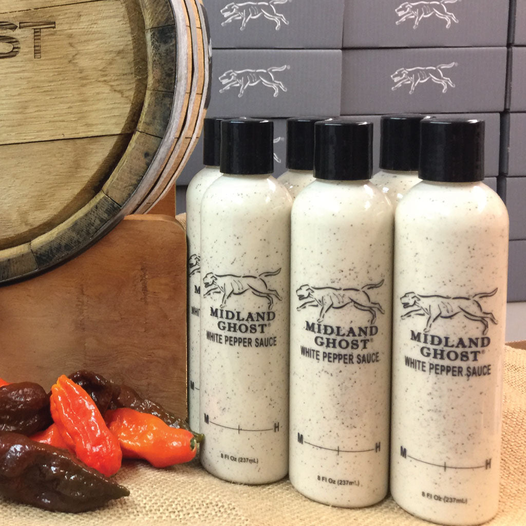 Midland Ghost White Pepper Sauce with Peppers (1 case)