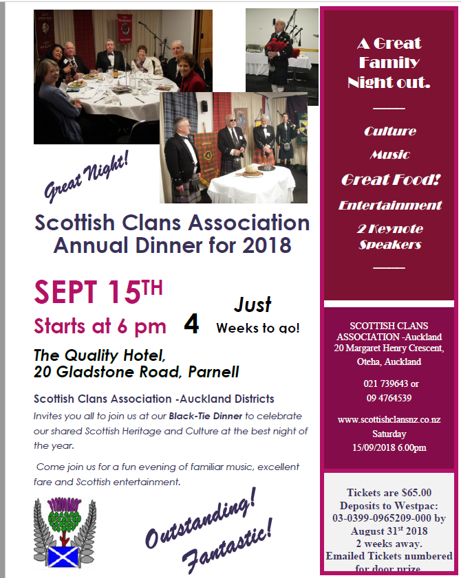 Scottish Clans Association Dinner 2018