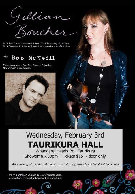 Gillian Boucher - Live at Taurikura Hall