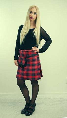 Kilted Mini Skirt -  - 1