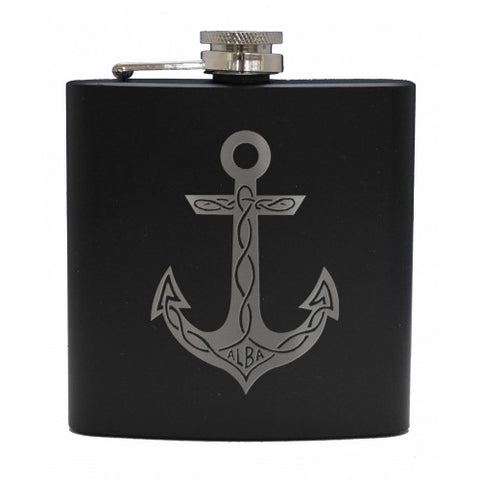 6oz Matt Black Hip Flasks