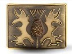 Brass Antique Thistle on Brass Antique