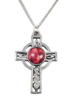 Celtic Cross Pewter Pendant -