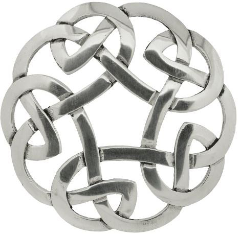 Plaid Brooch Celtic Interlace Plain