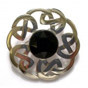 Plaid Brooch Celtic Interlace -
