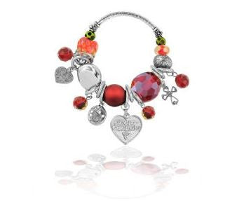 Celtic Love Bracelet (red) -
